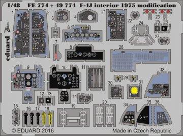 F-4J Phantom - interior 1975 modification [Academy] · EDU FE774 ·  Eduard · 1:48