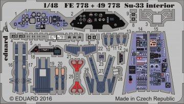 SU-33 Sea Flanker - Interior [Kinetic] · EDU FE778 ·  Eduard · 1:48