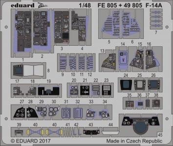 Grumman F-14A Tomcat - [Tamiya] · EDU FE805 ·  Eduard · 1:48