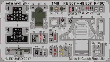 Curtiss P-40C [Bronco Models] · EDU FE807 ·  Eduard · 1:48