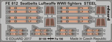 Seatbelts Luftwaffe WWII fighters STEEL · EDU FE812 ·  Eduard · 1:48
