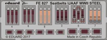 Seatbelts IJAAF WWII STEEL · EDU FE827 ·  Eduard · 1:48