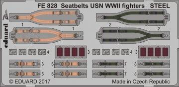 Seatbelts USN WWII fighters STEEL · EDU FE828 ·  Eduard · 1:48