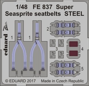Super Seasprite - Seatbelts STEEL [Kitty Hawk] · EDU FE837 ·  Eduard · 1:48