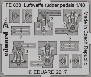 Luftwaffe - Rudder pedals · EDU FE838 ·  Eduard · 1:48