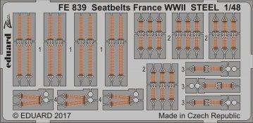 Seatbelts France WWII STEEL · EDU FE839 ·  Eduard · 1:48