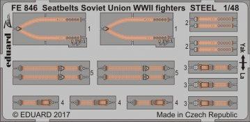 Seatbelts Soviet Union WW2 fighters STEEL · EDU FE846 ·  Eduard · 1:48