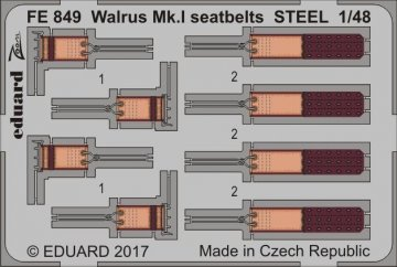 Walrus Mk.I - Seatbelts STEEL [Airfix] · EDU FE849 ·  Eduard · 1:48