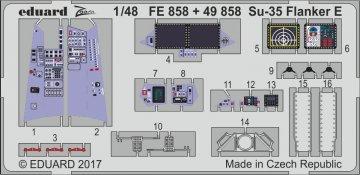 Suchoi Su-35 - Flanker E [Kitty Hawk] · EDU FE858 ·  Eduard · 1:48