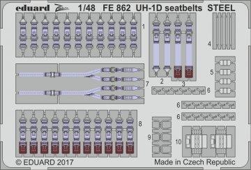 UH-1D Huey - Seatbelts STEEL [Kitty Hawk] · EDU FE862 ·  Eduard · 1:48