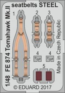 Curtiss Tomahawk Mk. II - Seatbelts STEEL [Airfix] · EDU FE874 ·  Eduard · 1:48