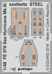 Sea Hurricane Mk.IB - Seatbelts STEEL [Airfix] · EDU FE876 ·  Eduard · 1:48