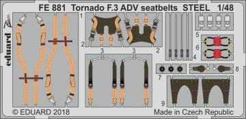 Tornado F.3 ADV - Seatbelts STEEL [Revell] · EDU FE881 ·  Eduard · 1:48
