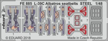 L-39C Albatros - Seatbelts STEEL [Trumpeter] · EDU FE885 ·  Eduard · 1:48