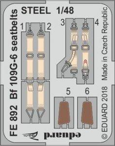 Messerschmitt Bf 109 G-6 - Seatbelts STEEL [Tamiya] · EDU FE892 ·  Eduard · 1:48