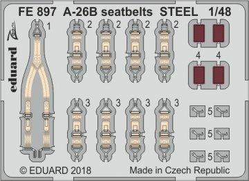 A-26B Invader - Seatbelts STEEL [Revell] · EDU FE897 ·  Eduard · 1:48