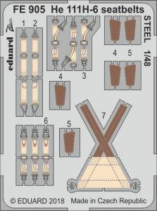 Heinkel He 111 H-6 - Seatbelts STEEL [ICM] · EDU FE905 ·  Eduard · 1:48
