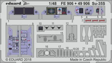 SU-35S Flanker E [Great Wall Hobby] · EDU FE906 ·  Eduard · 1:48