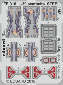 L-39 Albatros - Seatbelts STEEL [Eduard/Special Hobby] · EDU FE918 ·  Eduard · 1:48