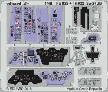 Su-27 UB Flanker C [HobbyBoss] · EDU FE922 ·  Eduard · 1:48