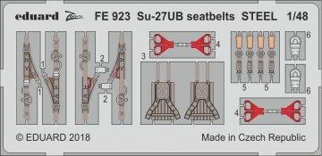 Su-27 UB Flanker C - Seatbelts STEEL [HobbyBoss] · EDU FE923 ·  Eduard · 1:48