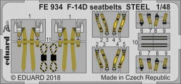 Grumman F-14D Tomcat - Seatbelts STEEL [Tamiya] · EDU FE934 ·  Eduard · 1:48