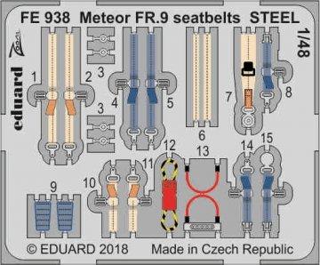 Gloster Meteor FR.9 - Seatbelts STEEL [Airfix] · EDU FE938 ·  Eduard · 1:48