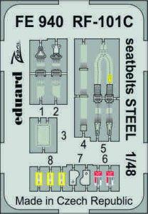 RF-101C Voodoo - Seatbelts STEEL [Kitty Hawk] · EDU FE940 ·  Eduard · 1:48