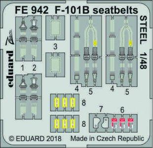 F-101B Voodoo - Seatbelts STEEL [Kitty Hawk] · EDU FE942 ·  Eduard · 1:48