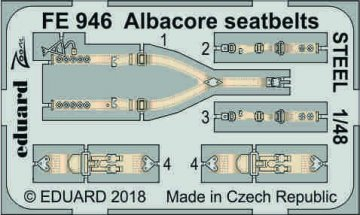 Fairey Albacore - Seatbelts STEEL [Trumpeter] · EDU FE946 ·  Eduard · 1:48
