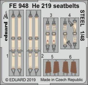 Heinkel He 219 - Seatbelts STEEL [Tamiya] · EDU FE948 ·  Eduard · 1:48