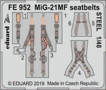 MiG-21MF - Seatbelts STEEL [Eduard] · EDU FE952 ·  Eduard · 1:48