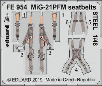 MiG-21PFM - Seatbelts STEEL [Eduard] · EDU FE954 ·  Eduard · 1:48