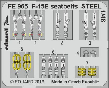 F-15E Strike Eagle - Seatbelts STEEL [Great Wall Hobby] · EDU FE965 ·  Eduard · 1:48