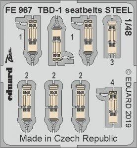 Douglas TBD-1 Devastator - Seatbelts STEEL [Great Wall Hobby] · EDU FE967 ·  Eduard · 1:48