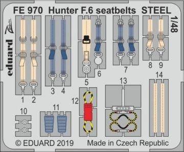 Hawker Hunter F.6 - Seatbelts STEEL [Airfix] · EDU FE970 ·  Eduard · 1:48