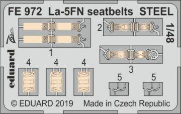 La-5FN - Seatbelts STEEL [Zvezda] · EDU FE972 ·  Eduard · 1:48