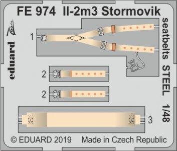 Il-2m3 Stormovik - Seatbelts STEEL [Accurate Miniatures] · EDU FE974 ·  Eduard · 1:48