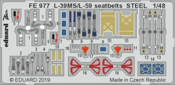 L-39MS/L-59 Super Albatros - Seatbelts STEEL [Trumpeter] · EDU FE977 ·  Eduard · 1:48