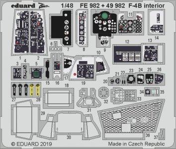 F-4B Phantom - Interior [Academy] · EDU FE982 ·  Eduard · 1:48