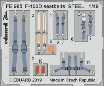 F-100D - Seatbelts STELL [Trumpeter] · EDU FE985 ·  Eduard · 1:48