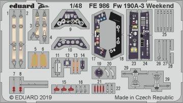 Focke Wulf Fw 190 A-3 - - Weekend Edition [Eduard] · EDU FE986 ·  Eduard · 1:48