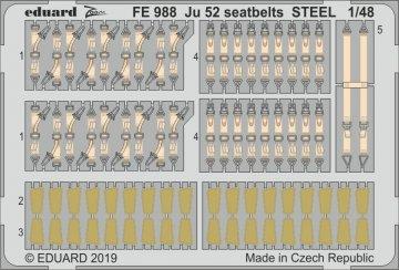 Junkers Ju 52 - Seatbelts STEEL [Revell] · EDU FE988 ·  Eduard · 1:48