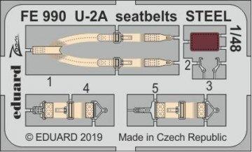 U-2A - Seatbelts STEEL [AFV Club] · EDU FE990 ·  Eduard · 1:48