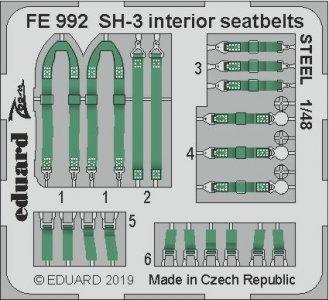 SH-3 Sea King - Interior seatbelts STEEL [Hasegawa] · EDU FE992 ·  Eduard · 1:48