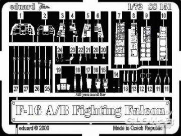F-16 A/B Fighting Falcon · EDU SS151 ·  Eduard · 1:72