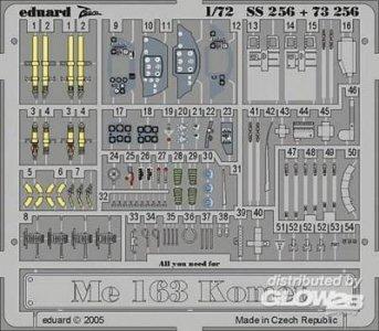 Me 163 Komet · EDU SS256 ·  Eduard · 1:72