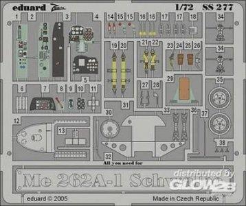 Messerschmitt Me 262 A-1 Schwalbe SS277 · EDU SS277 ·  Eduard · 1:72