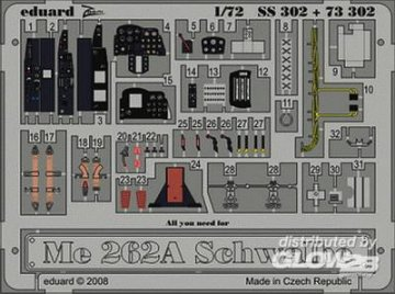 Messerschmitt Me 262 A Schwalbe [Academy] · EDU SS302 ·  Eduard · 1:72