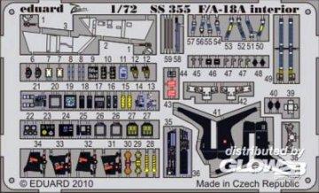 F/A-18A interior S.A. for Academy · EDU SS355 ·  Eduard · 1:72